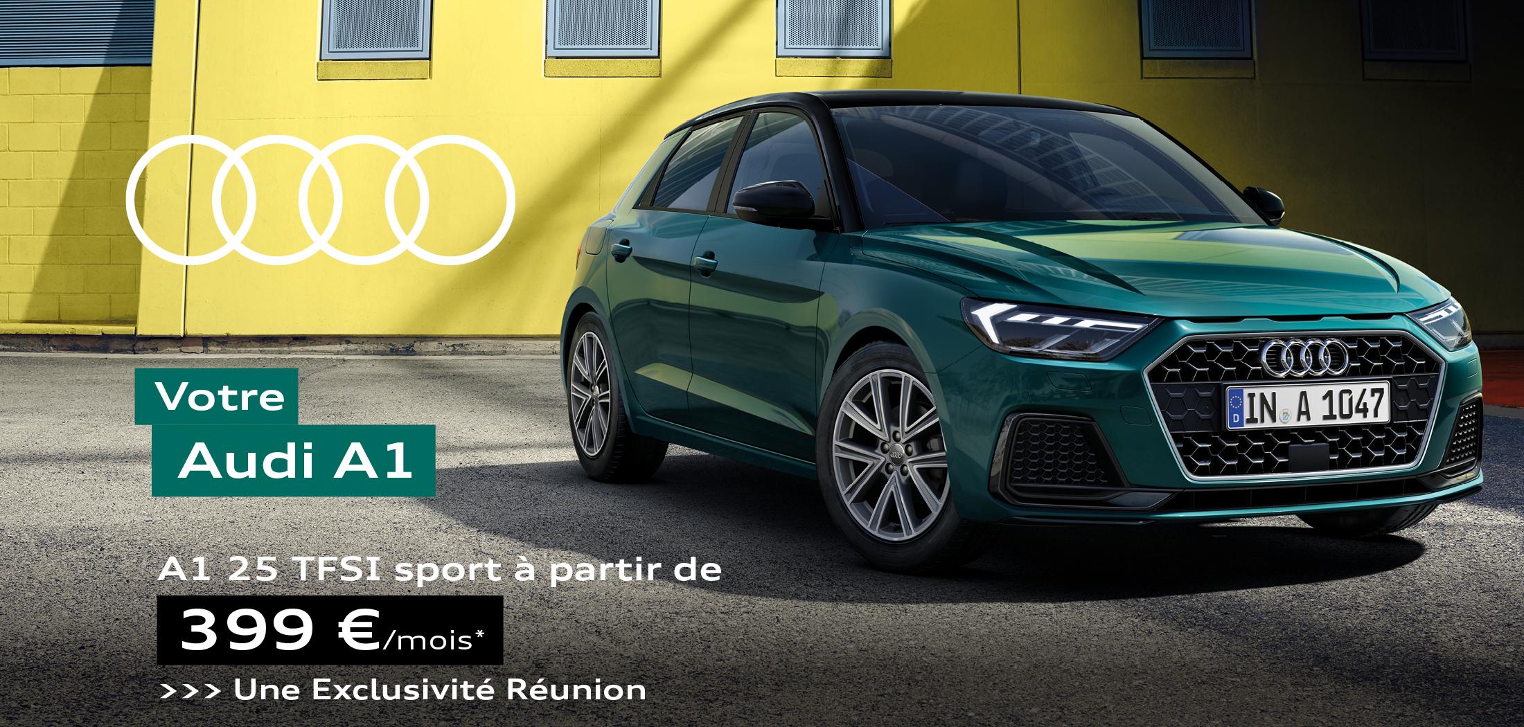 Audi A1 25 TFSI Sport à partir de 399€ par mois