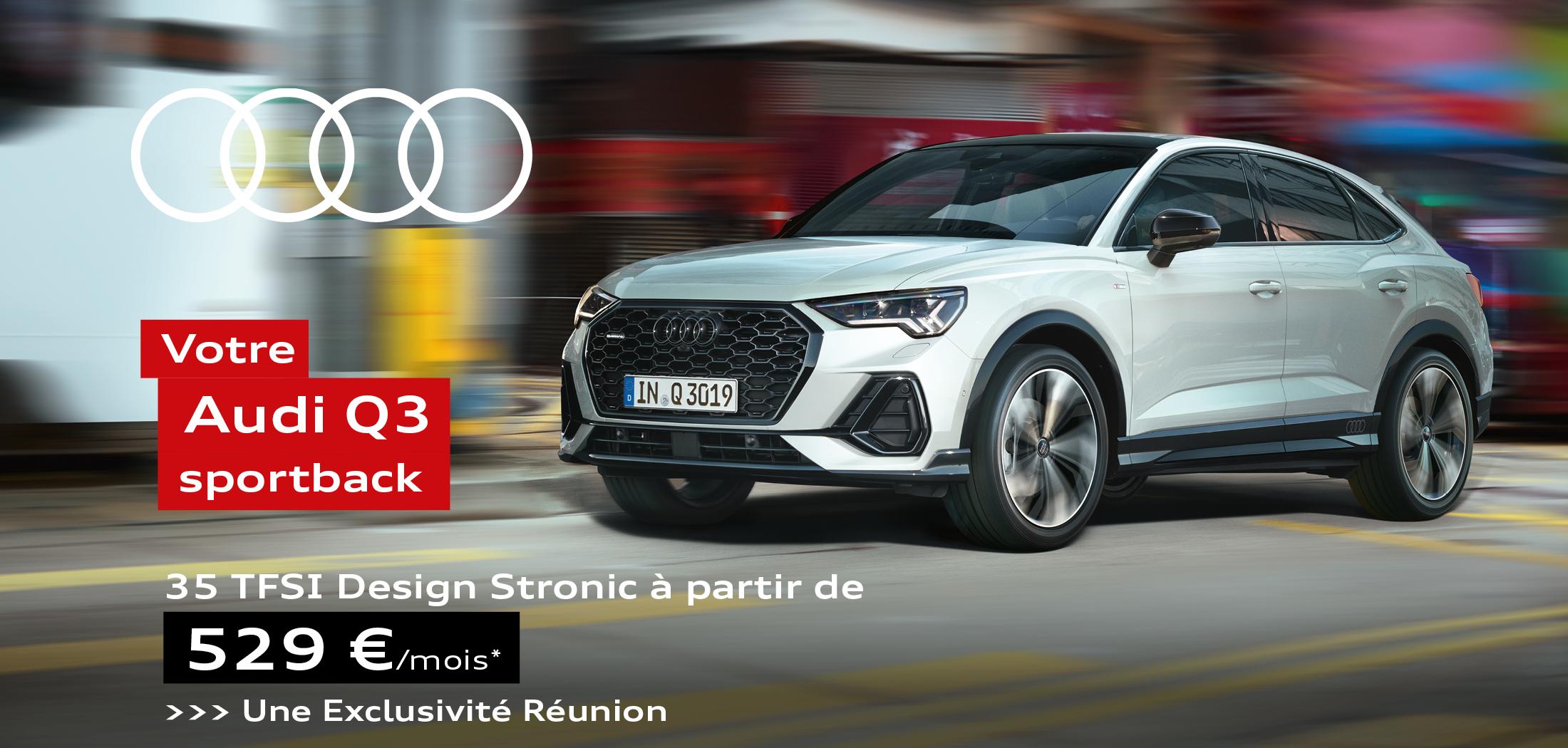 Audi Q3 SPORTBACK 35 TFSI Design Stronic à partir de 529€ par mois