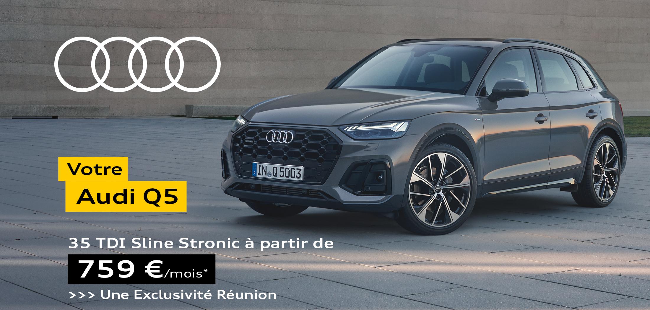Audi Q5 35 TDI Sline Stronic à partir de 759€ par mois