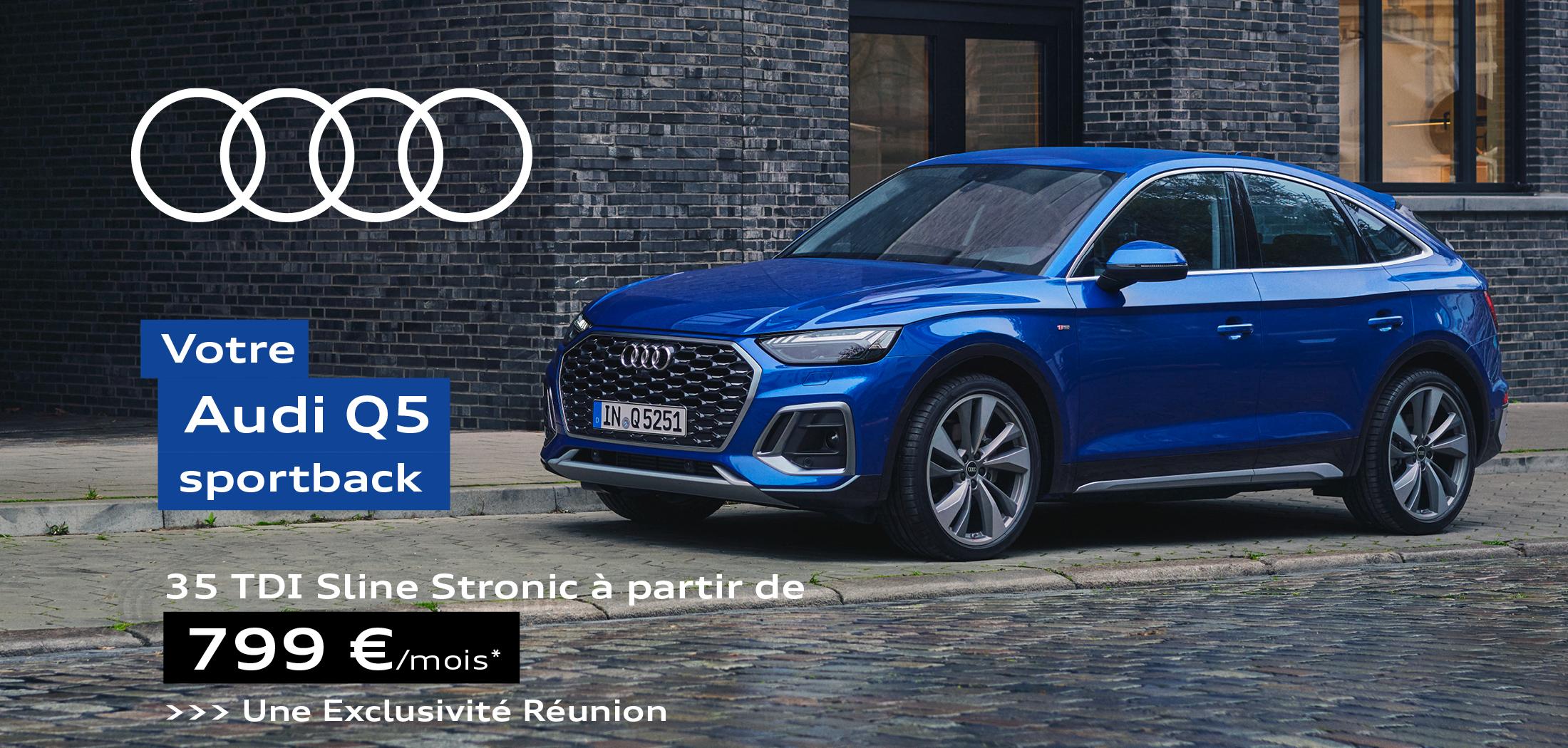 Audi Q5 SPORTBACK 35 TDI Sline Stronic à partir de 799€ par mois