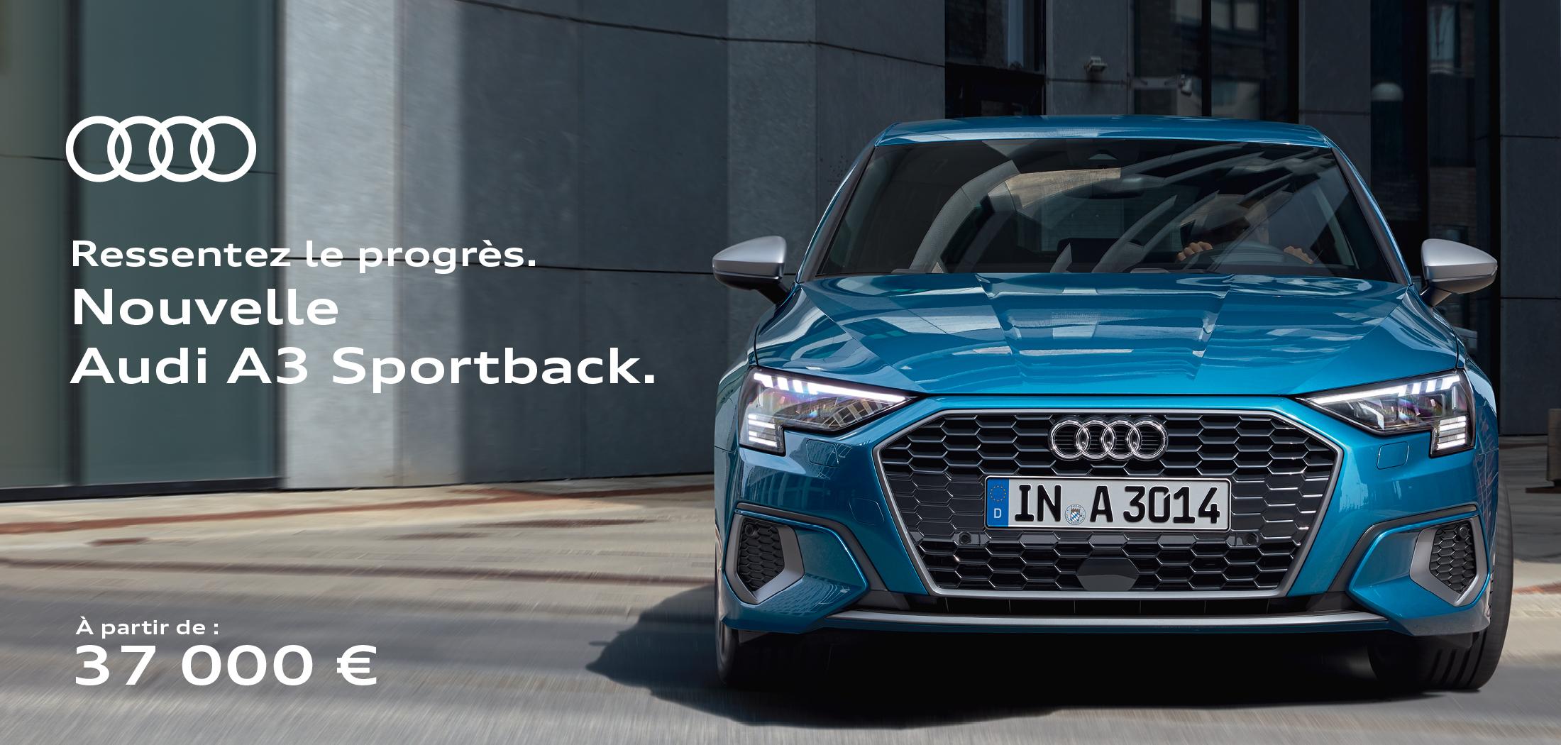 Nouvelle Audi A3 Sportback. Connectée à votre vie.